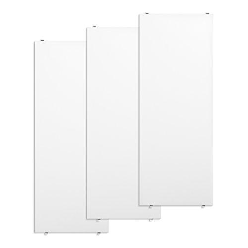 String System Regalböden 3er Set 78x30cm, weiß lackiert BxHxT 78x2x30cm