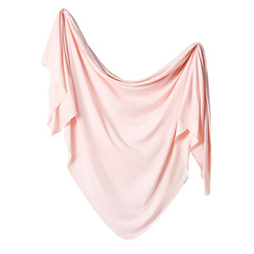 Copper Pearl Large Premium Knit Baby Swaddle Receiving Blanket Blush