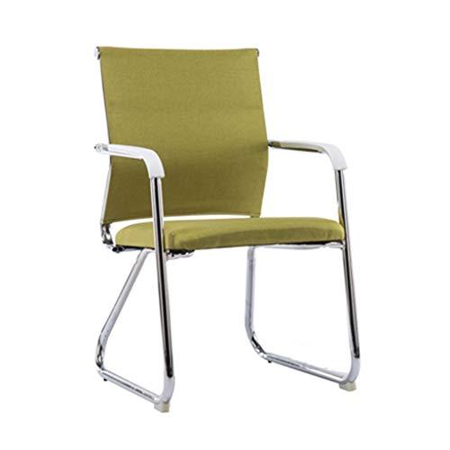 Comfortabele stoel, Soft gemakkelijk schoon te maken Chair slaapzaal School Chair Hotel Kapper Bar Stoel Computer Game Chair (Color : Green)