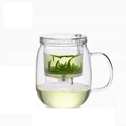 YANGHONG-Hotel suministros hervidor- Conjunto de té de cristal Filtro elegante Taza de té Taza de té simple Té Té Oficina Ceremonia de té Taza 600ml Resistente al calor / Código de productos básicos: