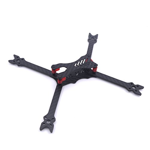 LEACO modeX HANTU 6 Inch 240mm 240 Pure Carbon Fiber Frame kit with 4mm arm TPU 3D Printing or FPV RC Cross Racing Drone Quadcopter