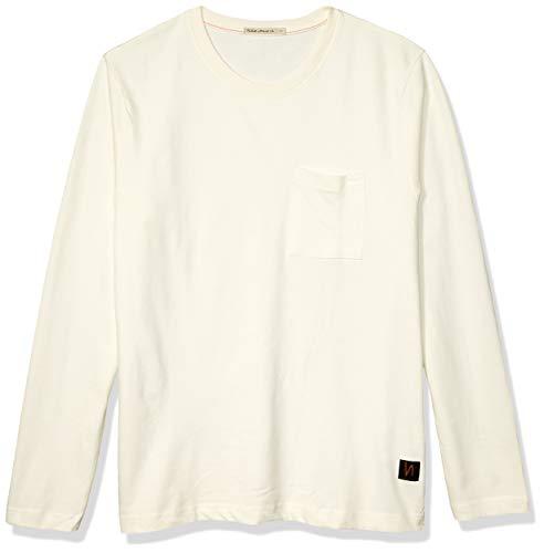 Nudie Jeans Unisex-Erwachsene Rudi Pocket Tee T-Shirt, Puder, Large