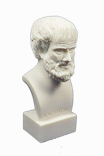 Estia Creations Aristotle Sculpture ARISTOTELES filósofo Griego Antiguo Estatua de alabastro