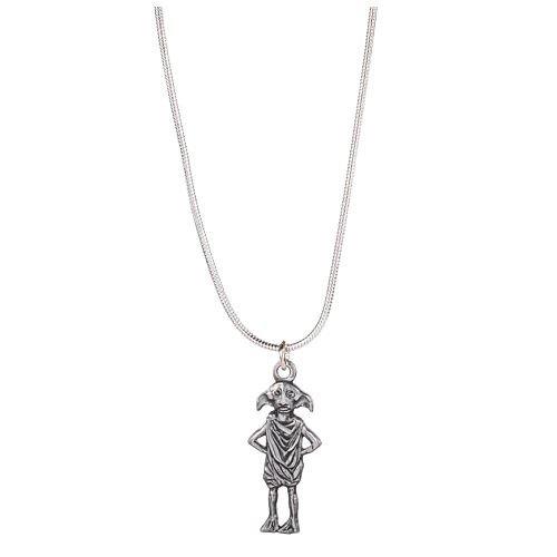 HARRY POTTER Oficial Hogwarts Dobby Plateado Plata del Collar Pendiente de Elf