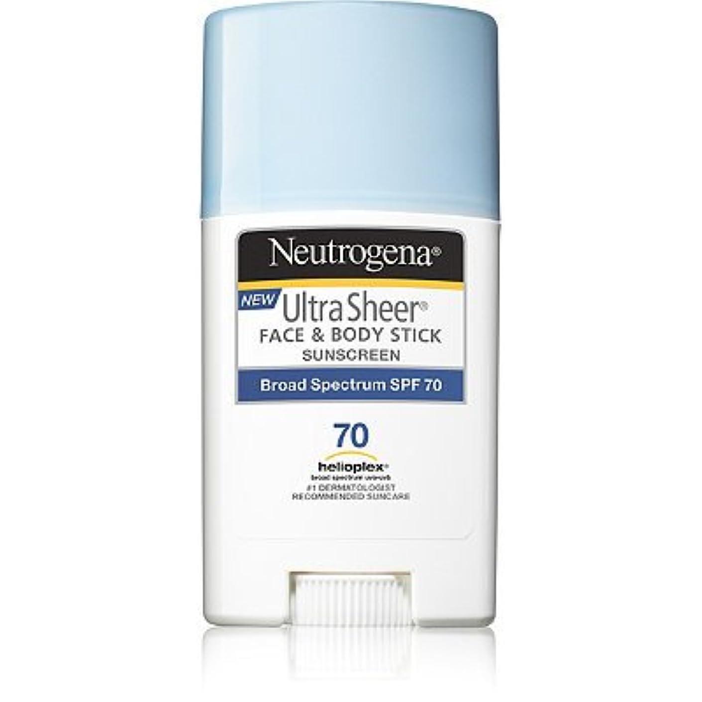 堂々たる衝撃小学生Neutrogena 日焼け止め ニュートロジーナ FACE & BODY用スティックタイプ SPF70 [並行輸入品]