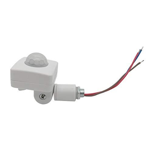 HOTPINK1 Lámpara de pared LED ultrafina, 85-265 V, sensor PIR, sensor de movimiento infrarrojo de 160 grados, para uso en exteriores