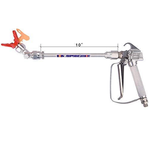 DUSICHIN DUS-137 Airless Paint Spray Gun, High Pressure 3600 PSI 517 TIP Swivel Joint with 10 inches Extension Pole and Universal Joints