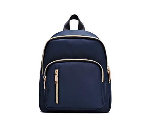 YANAIER Mini Backpack Purse for Women Girls Fashion Anti-theft Waterproof Rucksack Ladies School Bag Navy