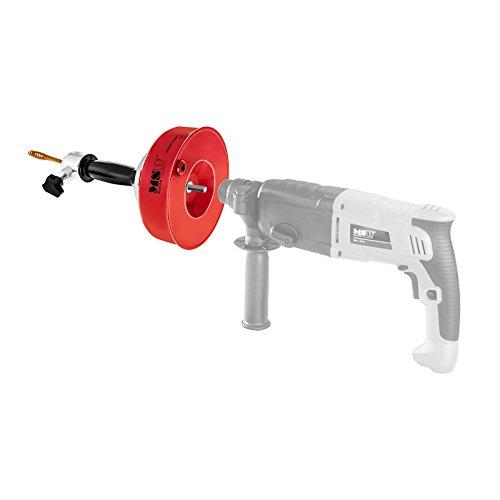 MSW Motor Technics Rohrreinigungsgerät Rohrreinigungsspirale (7,5 m Reinigungsspirale, 8 mm Spiraldurchmesser, Keulenbohrer Ø 14 mm, für Akkuschrauber geeignet, Feststellmechanismus))
