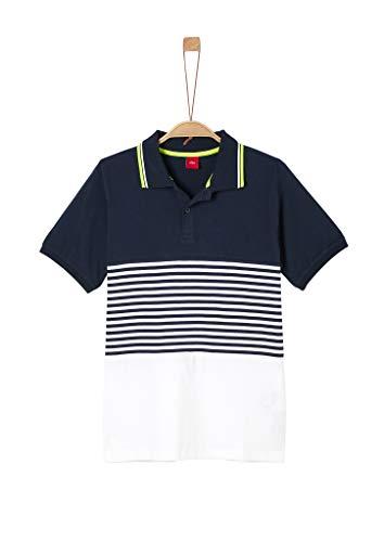 s.Oliver Junior Jungen 402.10.004.13.130.2021508 Polohemd, 5798 Dark Blue, M/REG