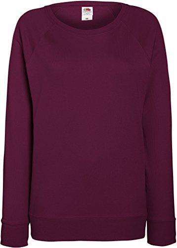 Damen Lightweight Raglan Sweat - In vielen tollen Farben Farbe Burgund Größe L