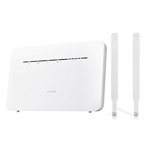 HUAWEI B535-232 Unlocked CAT 7 300mbps 4G/LTE Home/Office Router (White) plus 2 x External Antennas. Will work with any Sim Card Worldwide. Genuine UK Seller + VAT Invoice & 1 Year Warranty (Renewed)