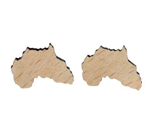 Miniblings africa continente Rasta Reggae pendientes de acrílico cortado con laser madera - Hecho a mano pendientes de joyería de moda pendientes conecto