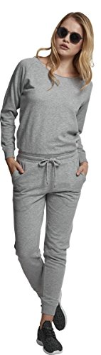 Urban Classics Damen Jumpsuit Ladies Long Sleeve Terry, Grau (Grey 00111) - 6