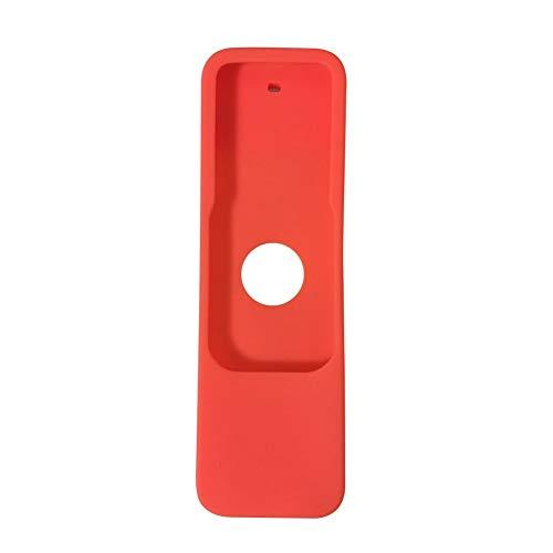 Cubierta de control remoto CUBIERTA DE CONTROL REMOTO ANTI CAJA DE PROTECTOR DE CAÍDA SOFT SOFT SIMPLE HOME ERGONÁTICO Organizador Ergonómico Bolsa a prueba de polvo Sólido de silicona para Apple TV 4