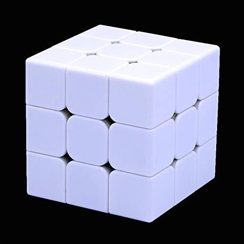 Amyove Zauberwürfel Magic Cube 3x3x3 Puzzlespiele Neo Cubo Magico Lernspielzeug für Kinder Weiß mit schwarz