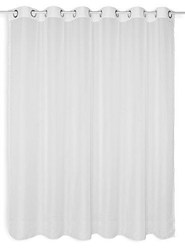 Haus und Deko Voile Dekoschal Gardine Emotion weiß Organza Vorhang Ösen transparent beschwerter Abschluß ca. 300x170 cm