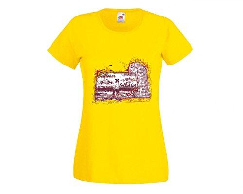 Camiseta velftones Dont lose The Century Fight x Are You Ready collossos go Music Rock n Roll Rocker Bike Auto Viaje Travel Palmen 80 para hombre mujer niños 104 – 5XL amarillo Para Hombre Talla : Large