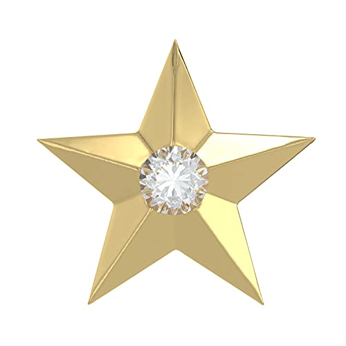 Adastra Jewelry Tooth Charms White Round Simulated Diamond Star Shape 18k Gold Over 925 Sterling Silver Handmade Teeth Gems Grillz Unisex Jewelry