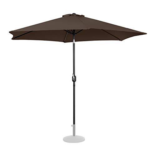 Uniprodo Sombrilla para Terraza Uni_Umbrella_TR300BR (Color Marrón, Hexagonal, Pantalla De Ø 300 cm, Inclinable)