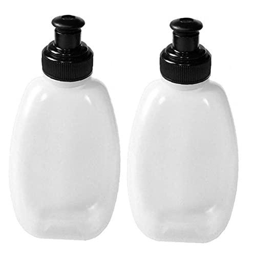 Bidon Sport Water Kettle Drinkwater Portable Voor Gym Kamperen Fietsen Hardlopen Klimmen 250ml White 2 Stuks