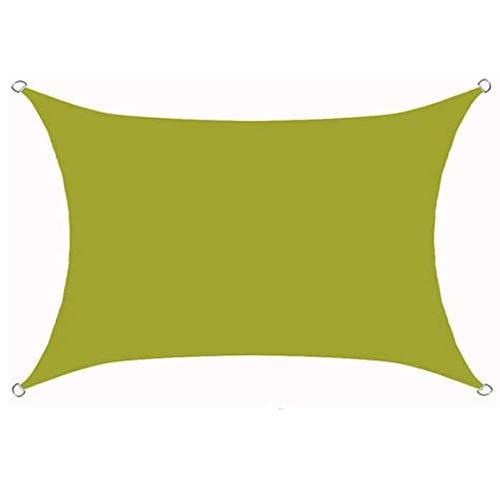 JQDZX Rectangular Toldo Vela de Sombra, 2 x 3 Metros Parasol poliéster protección Rayos UV, Toldo Resistente e Lmpermeable, para Jardín Patio Terraza Balcón Exteriores (6X8M,P)