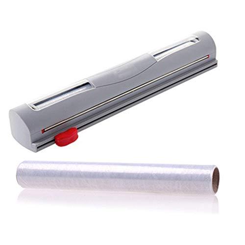 Kunststoff-Küchenfolie Und Frischhaltefolie Wrap Dispenser Cutter Mit Magnetischem Food Food Hanging Film Cutter , Länge 33 Cm,Grey