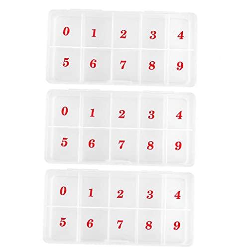 Ongles artificiels Conseils boîte de rangement à ongles transparent artificielle strass paillettes boîte de rangement 3 PCS, boîte de rangement