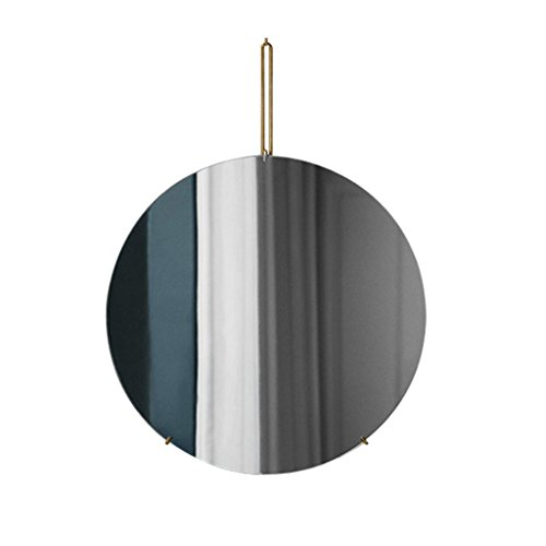 NYDZDM wandspiegel badkamerspiegel rond woonkamer spiegel metaal verguld 40-80 cm