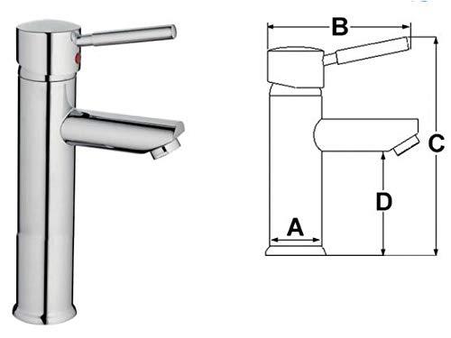 Keramikmischer Diana für Waschbecken im Badezimmer mit hoher Säule