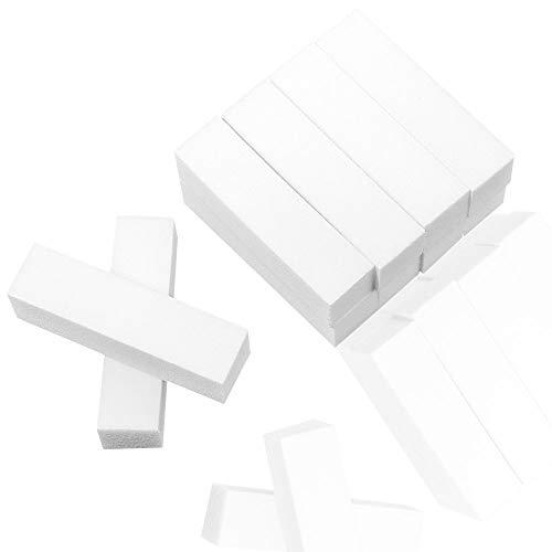 YMDZ 10 Stück Buffer für Nägel Schleifblöcke Nagelfeile Nagelpolierblock Polierflächen Kann Wiederverwendet Werden Nagelfeile Block Nagelkunst ManiküRe Werkzeug Weiß