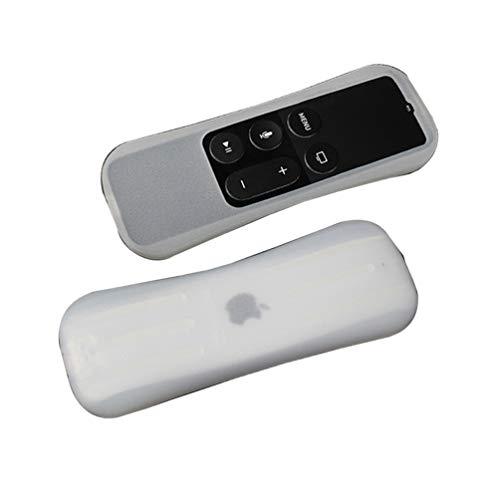 CrazyCat Carcasa para Apple TV 4K 5/4 Generación Siri Remote Control Control Remoto Ligero Antideslizante Silicona Protectora Slim Case Cove Antideslizante Resistente a Golpes Blanco