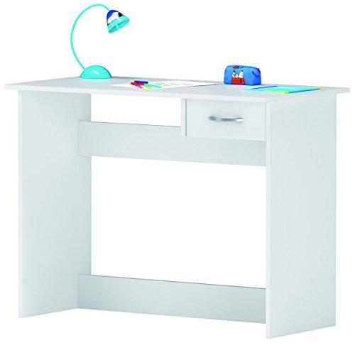Demeyere Escritorio Mesa de Estudio Juvenil 100 cm. Blanco. para Ordenador, habitación Infantil.