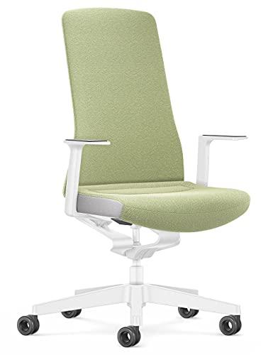 Interstuhl Bürostuhl Pure Interior Edition – Anpassung an Gewicht und Bewegung – ergonomische Smart-Spring Technologie (Grün | Weiß)