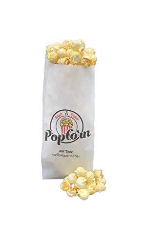 Popcorn Tüten Motiv Mit Liebe selbst gemacht 10/25/50/100/250/500/1000 Stück Popcorn Beutel 1 Liter 100 % recyclebar ca 35 Gramm (100)