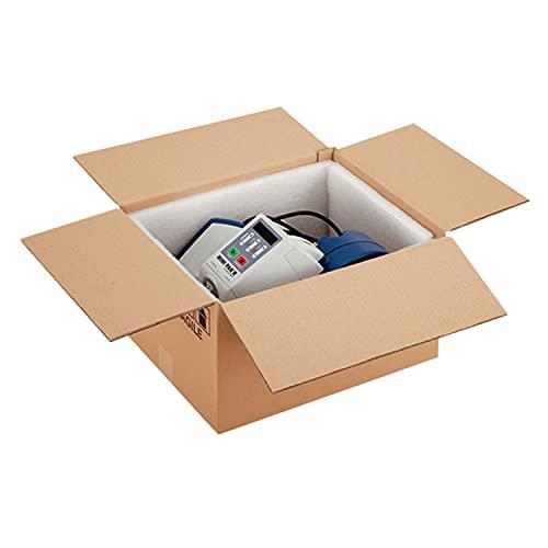 Propac Z-BOX323240M - Cajas de cartón microtriple color habana 32 x 32 x 40 cm - Juego de 15 unidades
