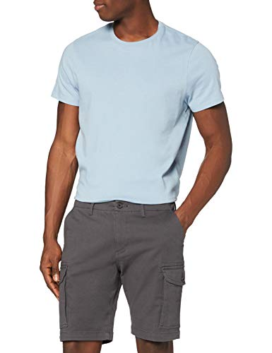 Marca Amazon - MERAKI POETME005 Pantalones Cortos, Hombre, Gris (Charcoal), 42, Label: 42