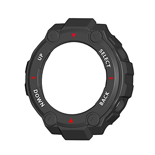 Montloxs Reemplazo de la Funda de TPU Suave para Huami Amazfit T-Rex Pro Smart Watch Protector de Marco de Carcasa Protectora
