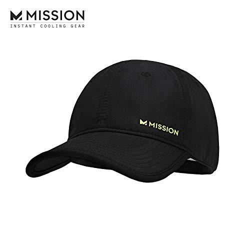 MISSION Cooling Performance Hat- Unisex Baseball Cap, Cools When Wet- Black