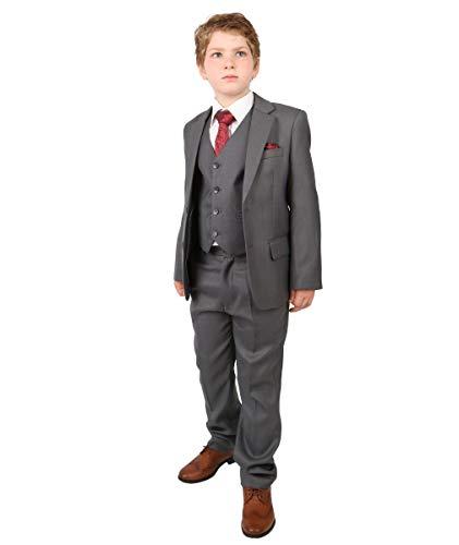 SIRRI Italian Design Jungen Anzüge in Grau, All in one Formelle Jungenanzug Hochzeit Prom Taufe Anzug