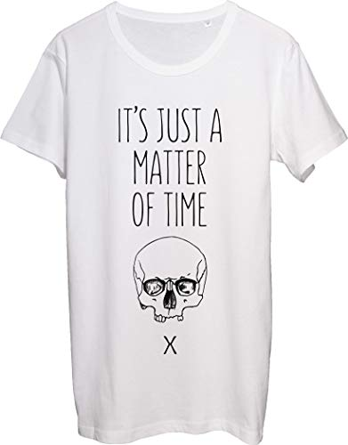 It's Just A Matter of Time - Camiseta para hombre, diseño de calavera