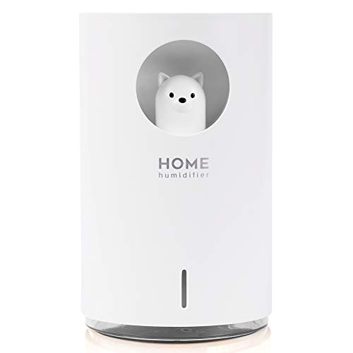 Mini humidificador 700 ml con modo niebla ajustable luz nocturna LED de 7 colores dura hasta 10 horas inteligente silencioso portátil para oficina, casa, coche y viajes