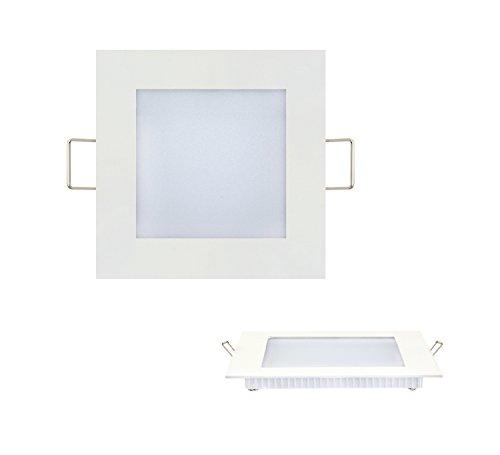 3 Watt Mini LED Slim Flach Panel Unterputz Einbauleuchte Einbaulampe Deckenleuchte Deckenlampe Lampe Eckig 96x96 mm Warmweiss