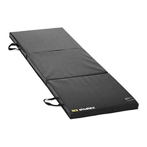 Gymrex GR-FM 18 Weichbodenmatte 180 x 60 x 5 cm faltbar schwarz Turnmatte Gymnastikmatte