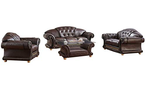 ESF Furniture Apolo Living Room Set in Brown