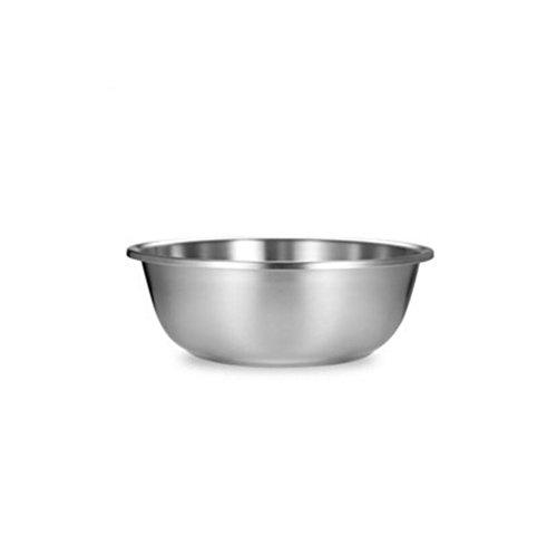 MXJ61 304 Bassin en Acier Inoxydable À la Maison Ronde, Plus épais Profonder Souper Basin Laver Les légumes Pots Cuisine Combattre Le Pot d'oeufs (Taille : 20cm)