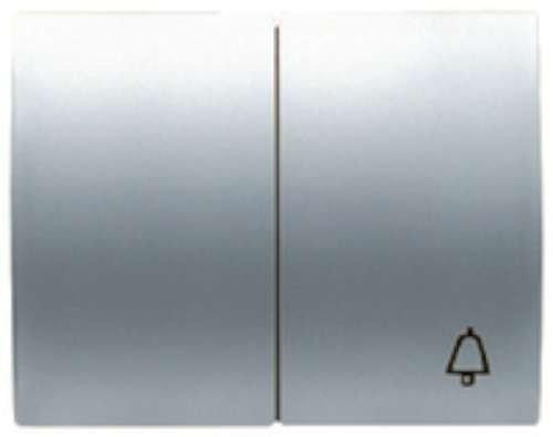 Niessen olas - Tecla doble pulsador +conmutador serie olas acero pulido