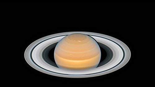 LIWEIXKY Hermosa Escena Rompecabezas de 1000 Piezas para Adultos Juego de descompresión de Madera Grande Dificultad Divertida: Saturno bajo el telescopio Hubble