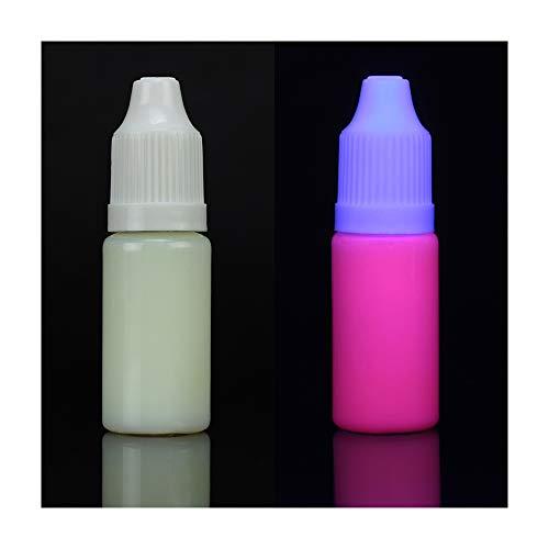 Unsichtbare UV-Schwarzlichttinte für Tintenstrahldrucker, fluoreszierende unsichtbare UV-Tinte nur bei Schwarzlicht sichtbar (10 ml, Magenta)