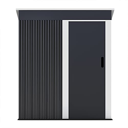 Herdress Manor 71 x 63 inch Steel Outdoor Storage Shed Kit-Perfect to Store Patio Furniture, Garden Tools Bike Accessories, Beach Chairs and Lawn Mower